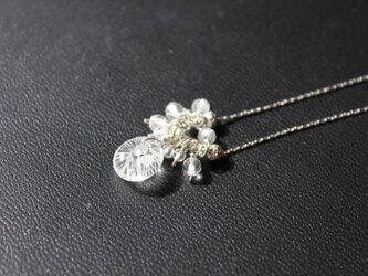 〈Machiko+S〉×〈Cristal-g〉*蜻蛉玉〈無垢〉+鈴なり水晶のチェーンネックレスの画像