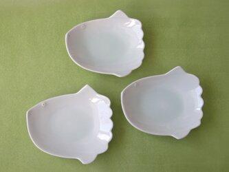 メロン灰青白磁 マンボウの取皿の画像