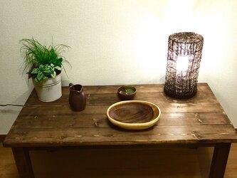 アンティーク風 ローテーブルの画像