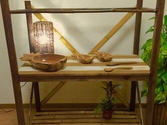 竹を使った棚の画像