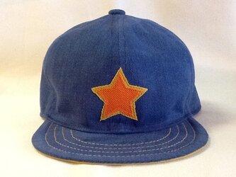 キッズのキャップ   『星ワッペン』の画像