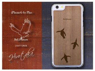 ペンギンが大好きな方々とっての最高のiPhone6 6sPlusケース クリアー(3匹ペンギン)の画像