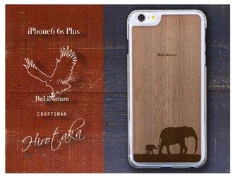 ゾウが大好きな方々とっての最高のiPhone6 6sPlusケース クリアー(親子ゾウ)の画像