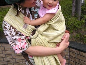 しじら織りスリング(イエロー系)の画像