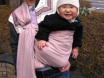 しじら織りスリング(サーモンピンク系)の画像