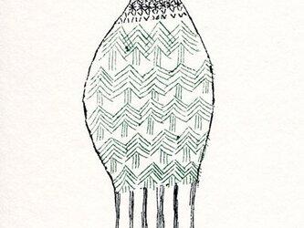 ポストカードセット-森のような鳥の画像