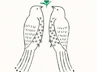 ポストカードセット-小鳥とあざみの画像