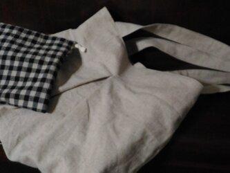 【桃さまご注文品 大きめバッグと巾着】の画像