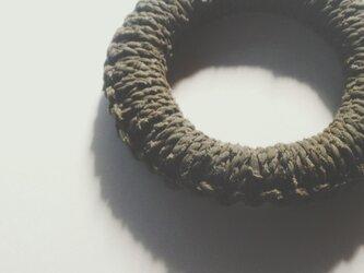 裂き編み鍋敷きの画像