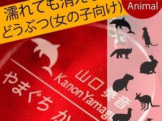 名札 入園祝い 幼稚園バッグ用 名前キーホルダー(動物シリーズ・女の子向け) 保育園 幼稚園 通園の画像