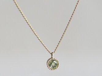K10 Peridot birth stone pendant {P033K10PE}の画像