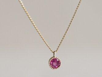 Pink tourmaline birth stone pendant [P033K10PT]の画像