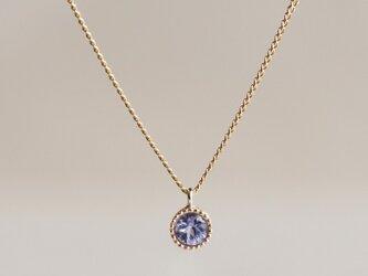 Tanzanite birthstone pendant [P033K10TZ]の画像
