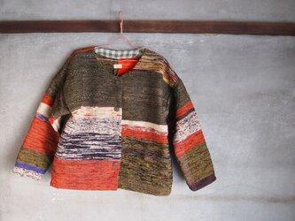裂き織り/silkJacket-海松色ト (+orimi)の画像