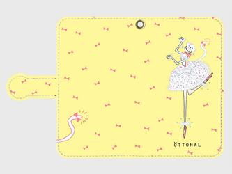 白い猫 手帳型スマホケース (Android用)の画像