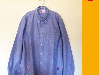 GOLF 刺繍 ボタンダウン OX長袖シャツの画像