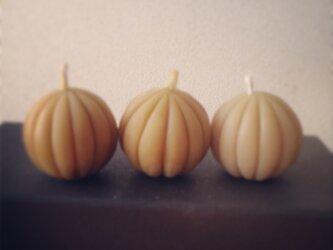 かぼちゃ 蜜蝋キャンドルの画像
