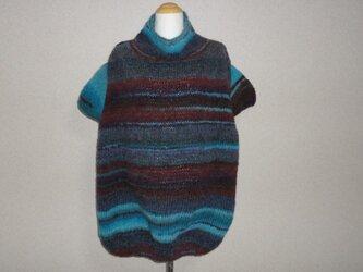 ターコイズ*グラデーション チュニックセーターの画像