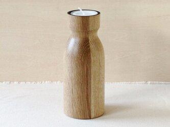 木のキャンドルホルダー・大(オーク)の画像