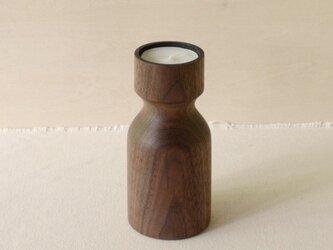 木のキャンドルホルダー(ウォールナット)の画像