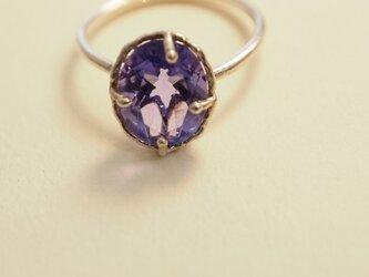 カラーチェンジするフローライト(蛍石)一番星のリングの画像