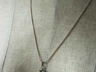 市松ペンダント antique turkey blue+matt goldの画像