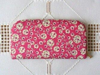 長財布(リバティ社タナローン使用)ジョアンナ(ピンク)の画像