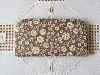 長財布(リバティ社タナローン使用)ジョアンナ(グレー)の画像