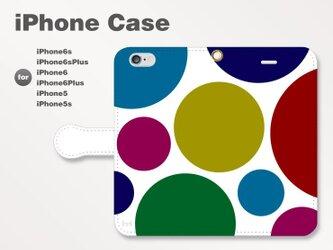 iPhone7/7Plus/SE/6s/6sPlus他 スマホケース 手帳型 北欧-ドット-水玉 シック 2602の画像