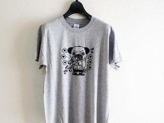 いぬ吉 ペロTシャツ(グレー)Mサイズの画像