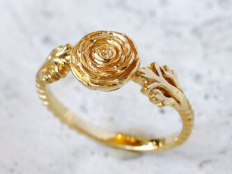 ラナンキュラスのリング(YG)の画像