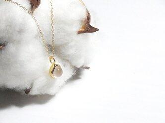 K18YG Luna ローズクォーツネックレス -自分を愛すること-の画像