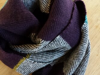 【手織り】カシミヤ×ウールマフラー#02の画像