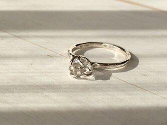 ハーキマーダイヤのシルバーリングの画像