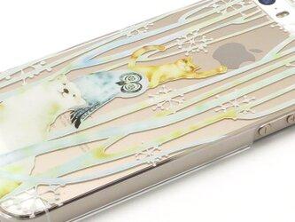 冬にぴったりiPhone5/5S/5cクリアケース(スノーフォレスト)の画像