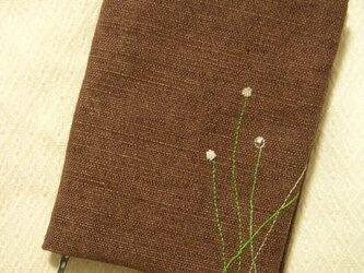 手刺繍・ブックカバーの画像