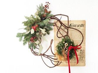 ミニリース付きクリスマスリースの画像