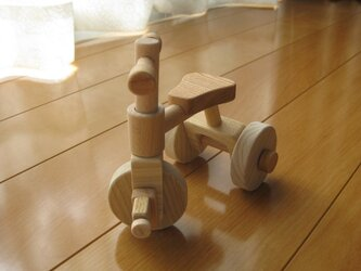 ミニチュア木製三輪車の画像