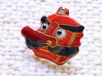 七宝焼ピンブローチ(ピンバッジ,ピンズ) お面 天狗の画像
