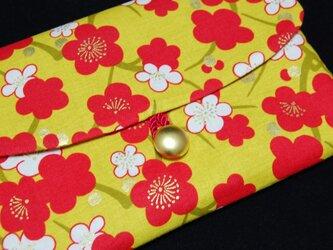 18×12サイズ御朱印帳入れ_新春紅白梅の画像
