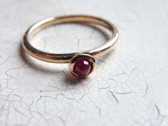 K18 ruby ringの画像