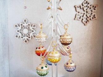 【受注制作】クリスマスツリー(マルチカラー・オーナメント)2015年バージョン①の画像