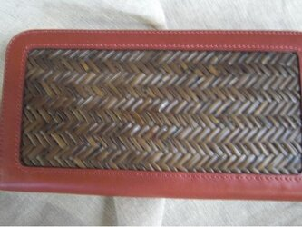 竹装飾長財布網代3の画像