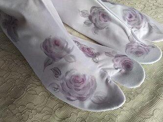 薔薇の足袋(ピンクパープル)の画像