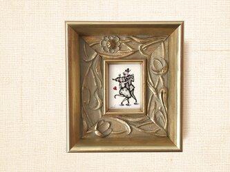 ミニ額縁 原画【 やさしい時間 】mini mini frame ver.の画像