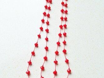 真っ赤なネックレス の画像