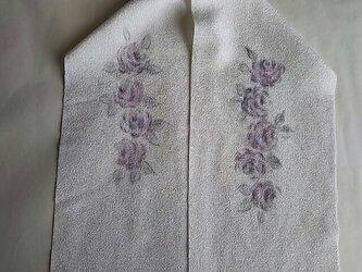薔薇の半襟の画像