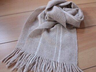 手織り かろやかふんわりマフラー ラインの画像