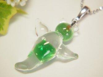 クリオネのネックレス 緑の画像