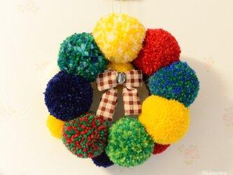 Nijinowa*Moco Fuwa Colourful wreath【Sサイズ】の画像
